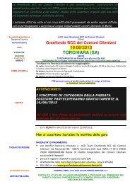 Scheda Gran Fondo BCC Comuni Cilentani - Ruote Amatoriali