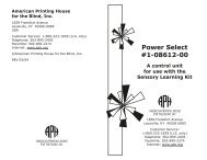 Power Select Instructions (1-08612-00) - American Printing House ...
