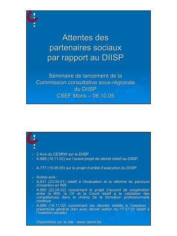 Intervention de Mesdames Véronique KAISER et ... - CSEF Mons