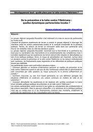 quelles dynamiques partenariales locales - Agence Nationale de ...