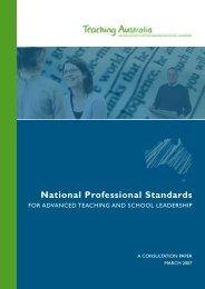 National Professional Standards - Australian Institute for Teaching ...