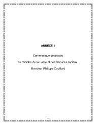 ANNEXE 1 Communiqué de presse du ministre de la Santé et des ...