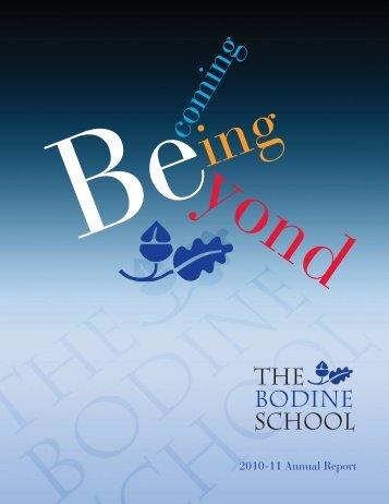 2011 Annual Report - Bodine School
