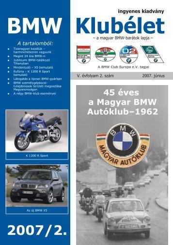 BMW Klubélet - Balázs oldala (Kamill)