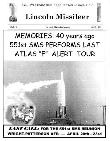 Lincoln Missileer - Number 8 - Atlas Missile Silo