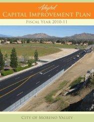 2010 / 2011 Adopted Capital Improvement Plan - Moreno Valley