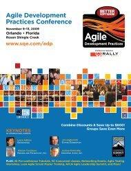 Agile Development Practices Conference - SQE.com
