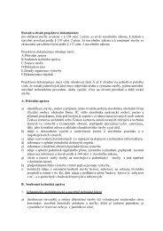Rozsah a obsah projektové dokumentace pro ohlášení stavby ...