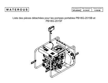Liste des pièces détachées pour les pompes portables ... - Waterous