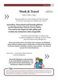 Rubrik Work & Travel - Weltweiser