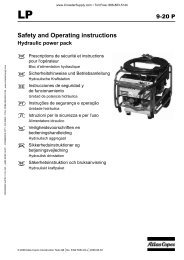 Safety and Operating instructions - Crowder Hydraulic Tools