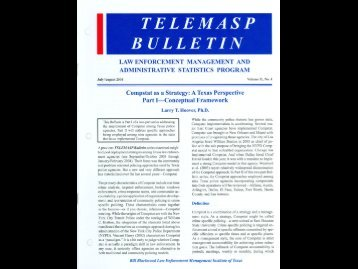 Compstat as Strategy: A TX Persp. Part I-Concept Framework