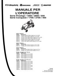 YT2350 4WD - Manuale d'uso