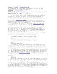 LEGE nr. 477 din 8 noiembrie 2004 privind Codul de conduită a ...
