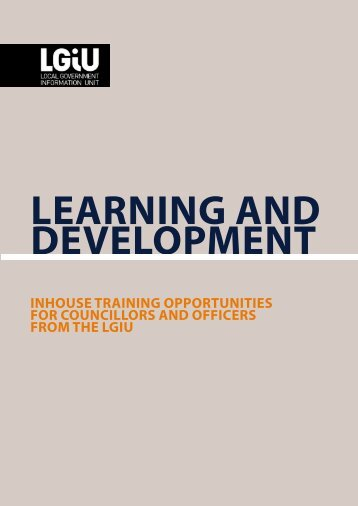 inhouse training opportunities for councillors and officers from the lgiu