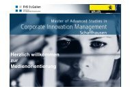 zur Medieninformation vom 16.08.2012 - Innovationsmanagement ...