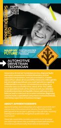 Automotive Drivetrain Technician - MAAP My Future