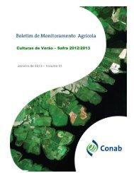 Culturas de Verão – Safra 2012/2013 - Conab
