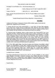 Yönetim Kurulu Üyelerinde Değişiklik, 10 Şubat 2005 - Teb.com