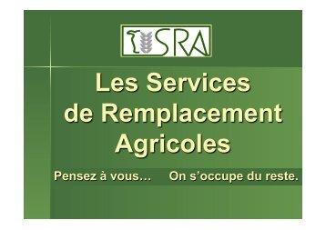 Les Services de Remplacement Agricoles
