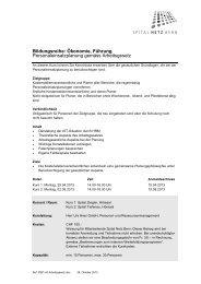 Personaleinsatzplanung gemäss Arbeitsgesetz - Spital Netz Bern