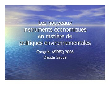 Claude Sauvé - Association des économistes québécois