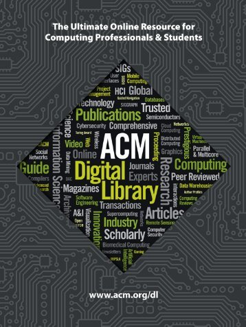 ACM Digital Library Main Brochure