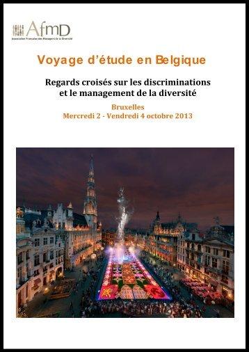 Voyage d'étude en Belgique - AFMD