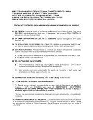 Edital de Terceiros Farinha Mandioca (.pdf) - Conab