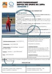 semestre 1 - UFR Pluridisciplinaire de Bayonne