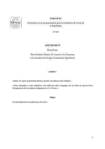 Projet de loi - Réseau école | PCF