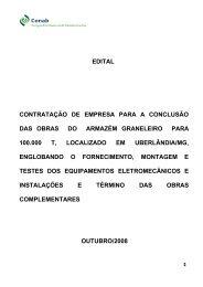 edital contratação de empresa para a conclusão das obras ... - Conab