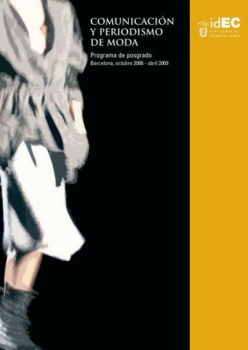 comunicación y periodismo de moda - IDEC - Universitat Pompeu ...