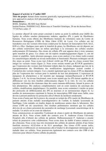 Télécharger le rapport final du Dr Delphine BOHL - ARSla