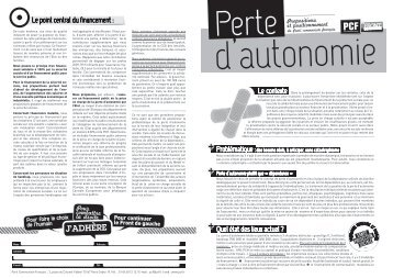 Perte d'autonomie - Pcf