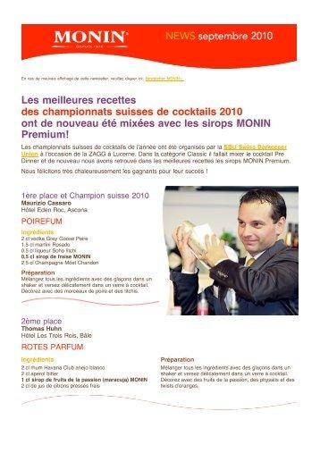 PDF «MONIN Newsletter Suisse», septembre 2010