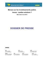 Menaces sur les investissements publics - Association des maires ...