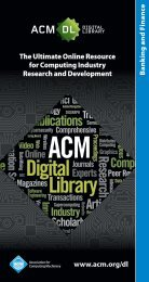 Banking and Finance - The ACM Digital Library