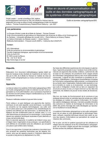 Outils et données cartographiques et SIG.pdf - Réseau wallon de ...