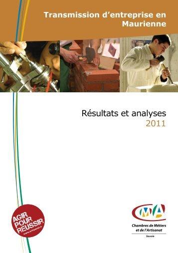 La transmission d'entreprise en Maurienne - Chambre de Métiers et ...