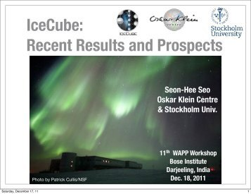 IceCube: Recent Results and Prospects - Bose Institute