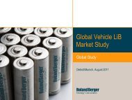 Global Vehicle LiB Market Study - CleanThinking