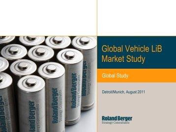 Global Vehicle LiB Market Study - CleanThinking