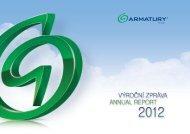 Výroční zpráva 2012 - ARMATURY Group a.s.