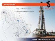 Title – Arial Bold 20 pt - ShaMaran Petroleum Corp. - Home