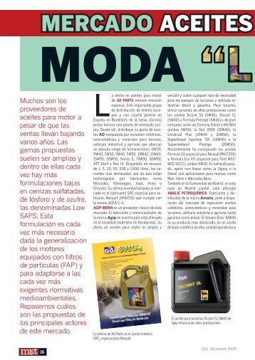 MERCADO ACEITES PARA MOT - Mundo Recambio y Taller