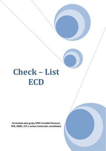 Check – List ECD - Fenacon