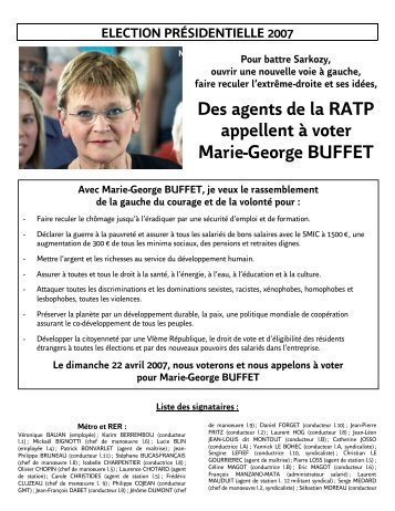 Le tract (PDF - 87.3 ko) - Section RATP