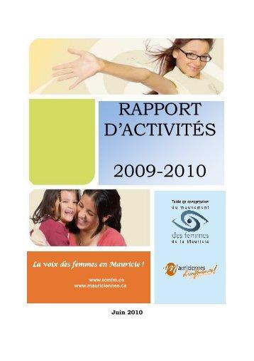 Rapport d'activité 09-10 - Table de concertation du mouvement des ...