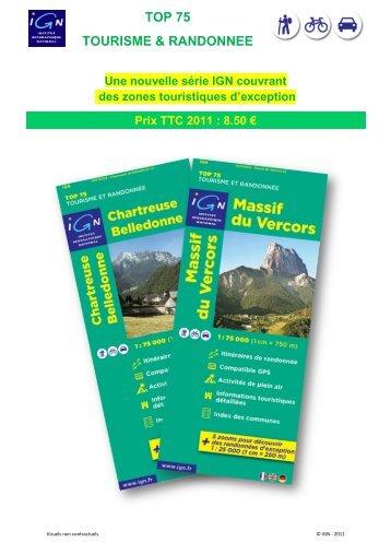 TOP 75 TOURISME & RANDONNEE - Espace revendeurs - Ign